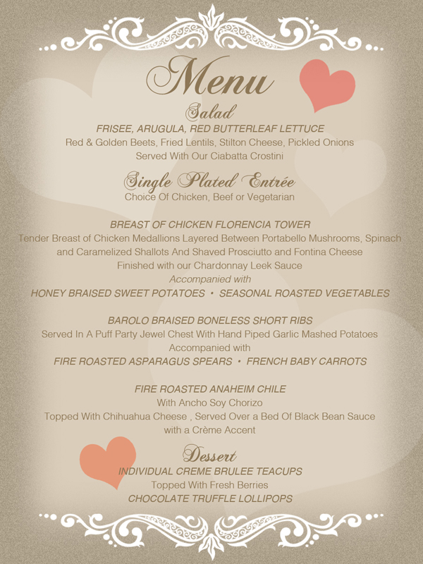 THE ART OF LOVE A Valentine Dinner TGIS Catering